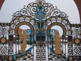 Кованые ворота для церкви