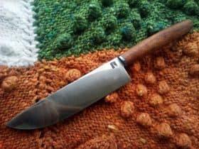 Кованый нож ручной работы