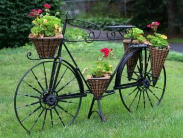 Кованая клумба Велосипед